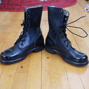 VTG Military 1967 Stamped Blk Shiny Combat Boots